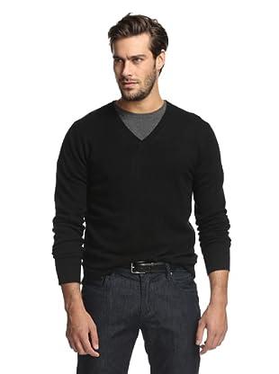 Christopher Fischer Men's Cashmere V-Neck Sweater (Black)