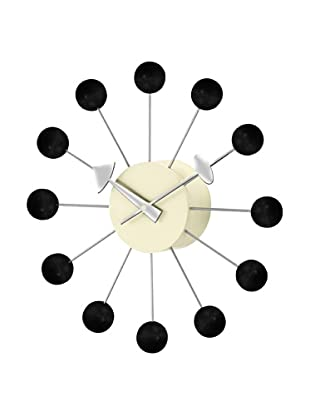 George Nelson Atomic Ball Wall Clock (Black/Silver)