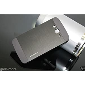 Grabmore Motomo Metal Back Cover Case For Samsung Galaxy Grand 2 Grand2 G7106 G7102 - Black