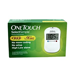 Omron One Touch Select Simple Blood Glucose monitoring System