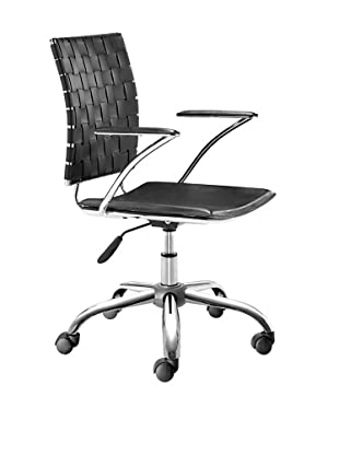 Zuo Criss-Cross Office Chair, Black