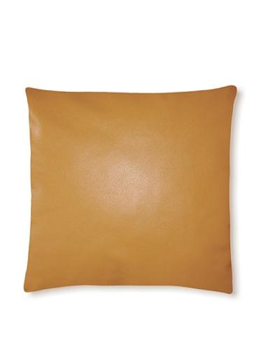 Natural Siena Leather Pillow (Dark Mustard)