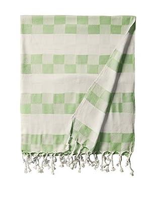 Nomadic Thread Handwoven Towel Cube, Natural/Apple
