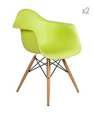 Lo+deModa Set De 2 Sillas Dimero Color Edition Verde