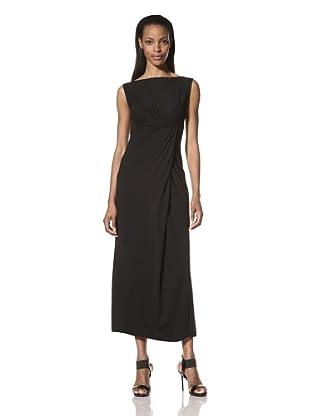Rick Owens Lilies Women's Twisted Draped Dress (Black)
