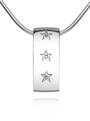 Secret Diamonds 60250058 - Colgante de mujer de plata de ley con 3 diamantes