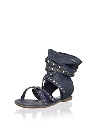 XTI Kid's Sandal with Wraparound Ankle Cuff (Navy)