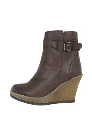 Buffalo London ES 30175 GARDA 139325 - Botines fashion de cuero para mujer (Marrón)