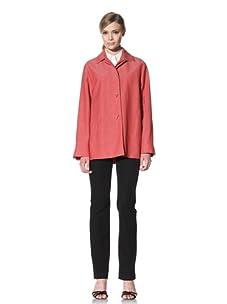 Loro Piana Women's Cipro Zelander Strip Jacket (Red)
