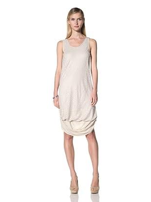 Poleci Women's Laser Cut Layer Dress (Stone)