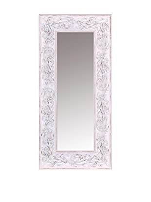 Romantic Style Espejo de Pared Blanco