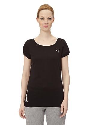 Puma Damen T-Shirt Pumascript Top I (Black)