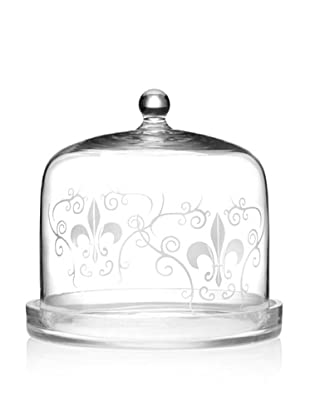 Home Essentials Etched Fleur-de-Lis Cheese Dome