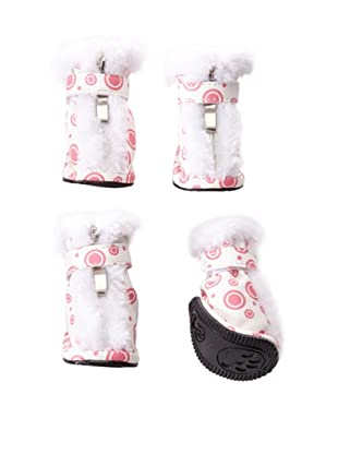 Pet Life Ultra-Fur Comfort Boots (Pink/White)