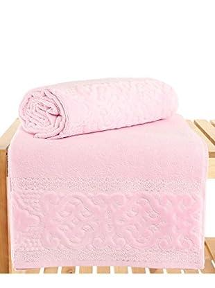 Maisonette Meltem 2-Piece Bath Towel Set, Pink