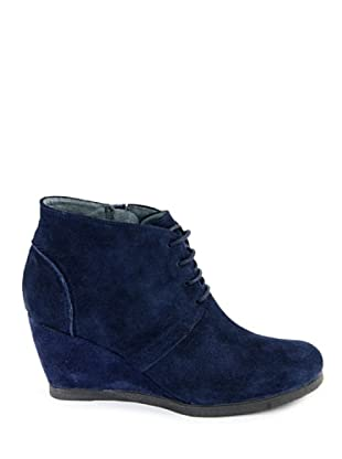 Eye Shoes Botines Cordones Cuña (Azul Oscuro)