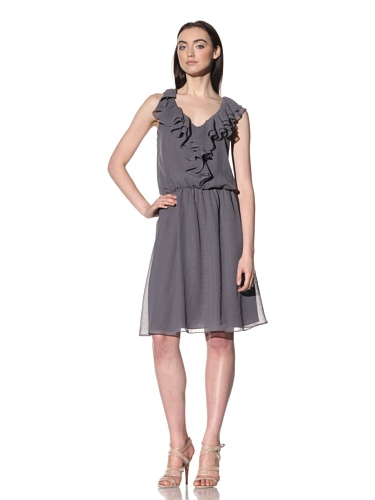 Robbi & Nikki Women's Ruffled Dot Dress (Shadow)