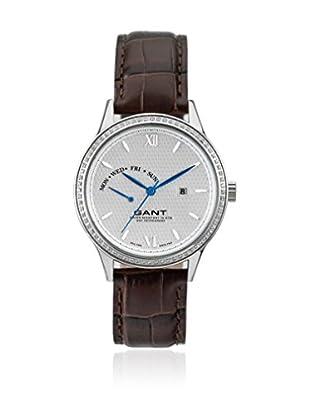 Gant Reloj con movimiento cuarzo japonés Kingstown Lady W10764 Marrón 37 mm