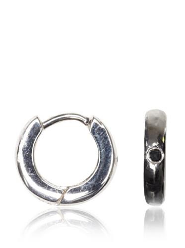 Catherine Angiel White Gold Huggie Hoop Earrings