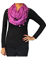 Infinity Loop One Circle Womens Neck Scarf Fashion Clothing (Purple)
