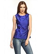 Ladybug Womens Polyester Tops ,Blue ,Large