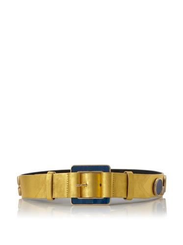 Meredith Wendell Women's Glass Circles Belt (Gilt)