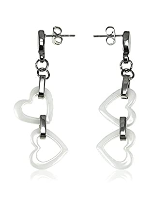 So Charm with Crystals from Swarovski Pendientes  Blanco