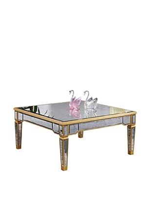 Florentine Coffee Table, Gold Leaf/Antique Mirror