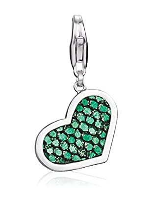 Esprit Silver Charm S925 Glam Heart Green Sterling-Silber 925