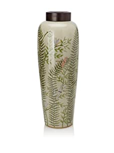 HomArt Morning Fern Hand-Painted Porcelain Grand Urn with Lid (Multi)