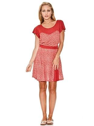 Springfield Vestido Flores (Rojo)