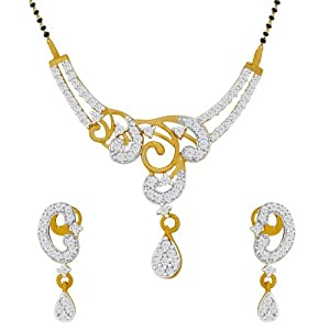 Spargz Traditional Mangalsutra Earring Set For Women AIMS 007 [Jewellery]