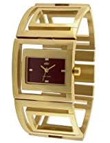 Elite analog Ladies dress Brown dial Women's watch - E51314G/105