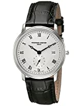 Frederique Constant Men's FC-245M4S6 Slim Line Analog Display Quartz Black Watch