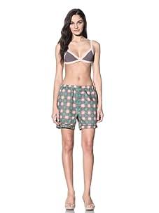 MARNI Women's Printed Boxer Shorts (Sea Green/Pink)