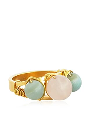 Amanda Rudey Emma Amazonite & Rose Quartz Ring