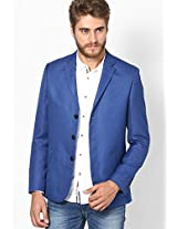 Blue Slim Fit Jacket & Blazer