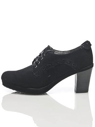 Apepazza Zapato Cordón Perforaciones (negro)