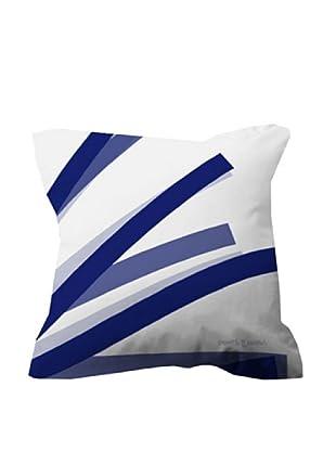 Devota & Lomba Funda Cojín Brochas (Blanco / Azul / Gris)