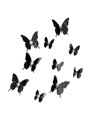 Ambiance Sticker Wandtattoo 12 tlg. Set 3D Diamond Bead Butterflies