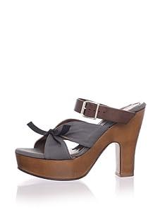 MARNI Women's Buckled Platform Sandal (Neutral Grey)