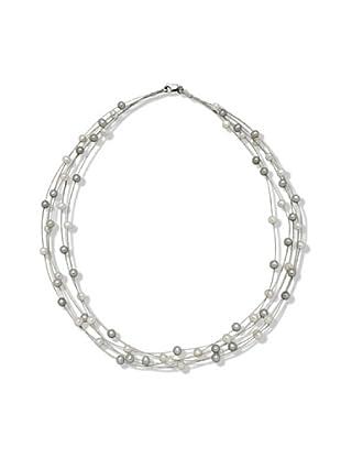 Nova Pearls Copenhagen Collar de Perla De Agua Dulce 5 - 6 mm