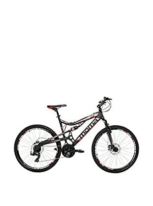 MOMA BIKES Bicicletta Btt 26 Alu Full Susp. Full Disc 24V Equinox M Nero