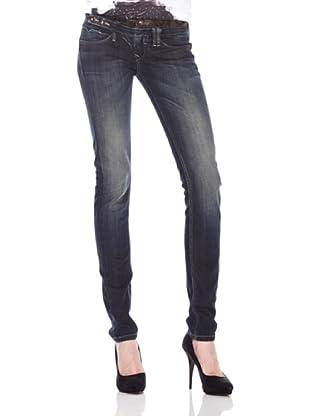 Salsa Jeans Cintura Piel Cobra (Azul)