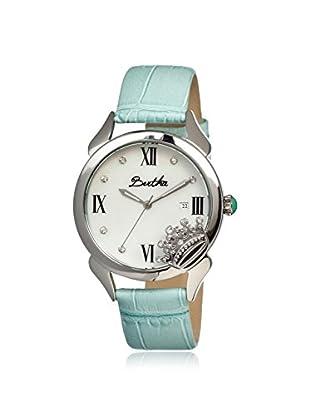 Bertha Women's BR2402 Queen Powder Blue/White Leather Watch