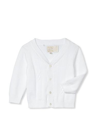 Emile et Rose Baby Boy's True Knit Cardigan (White)
