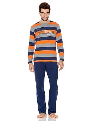 Abanderado Pijama Champs (Naranja / Navy)