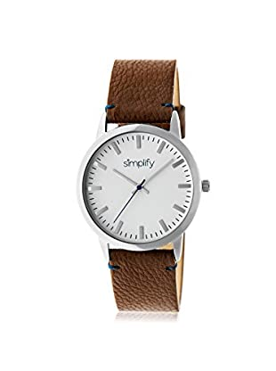 Simplify Women's SIM2802 The 2800 Brown/White Leather Watch