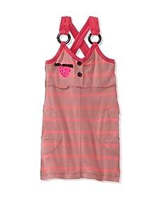 Sonia Rykiel Girl's Stripe Strawberry Dress (Pink)