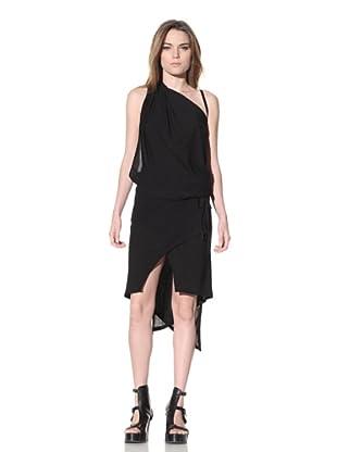 Ann Demeulemeester Women's Top and Skirt Set (Black)